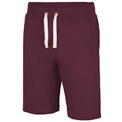 burgundy male sweat shorts
