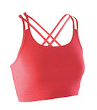 coral crossback fitness workout top